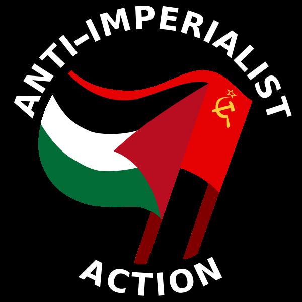 Anti-imperialist action clip art