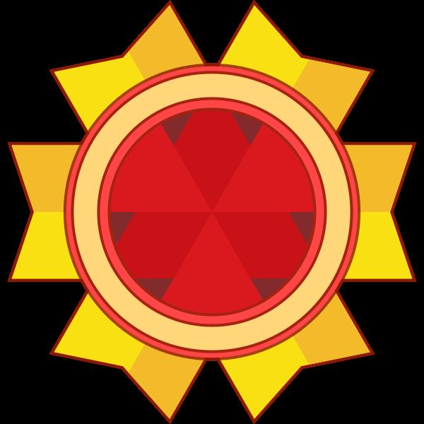 Vector image of award ribbon