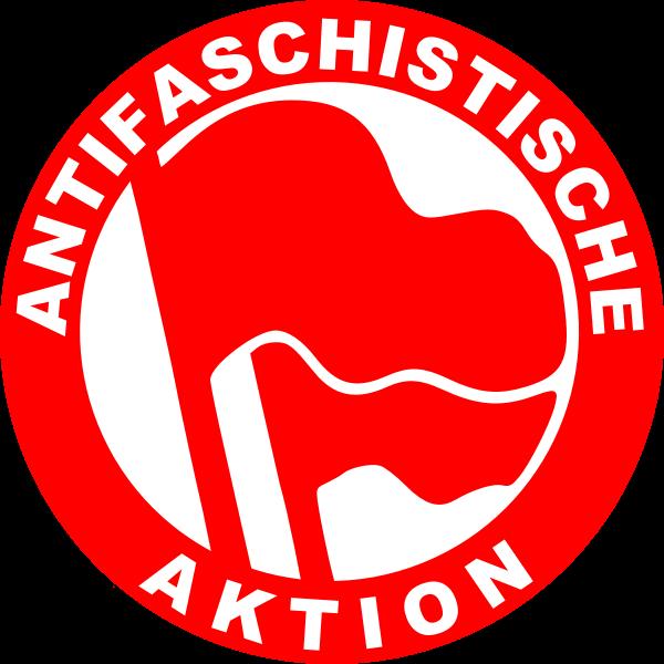 Antifascist action sign vector image