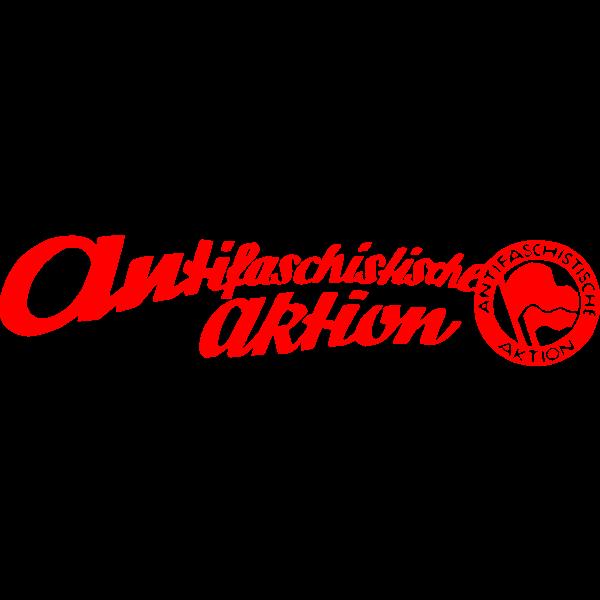 Antifascist movement logo in Germany vector illustration