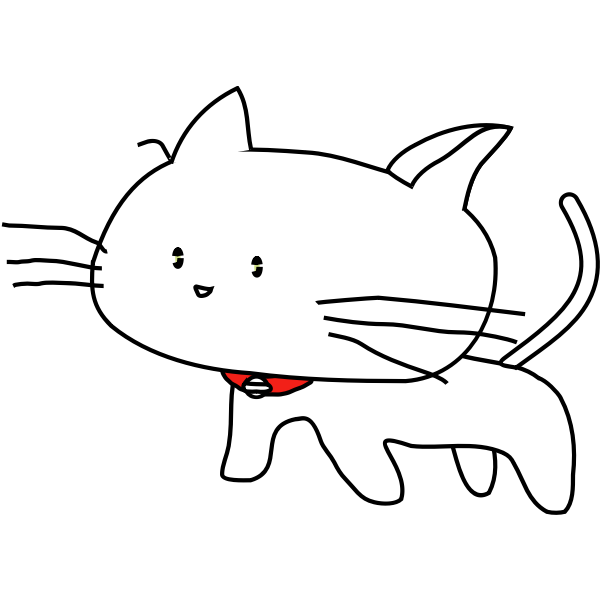 White cat vector graphics