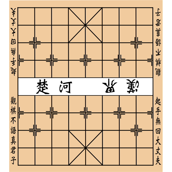 Chinese chess plate vector drawing