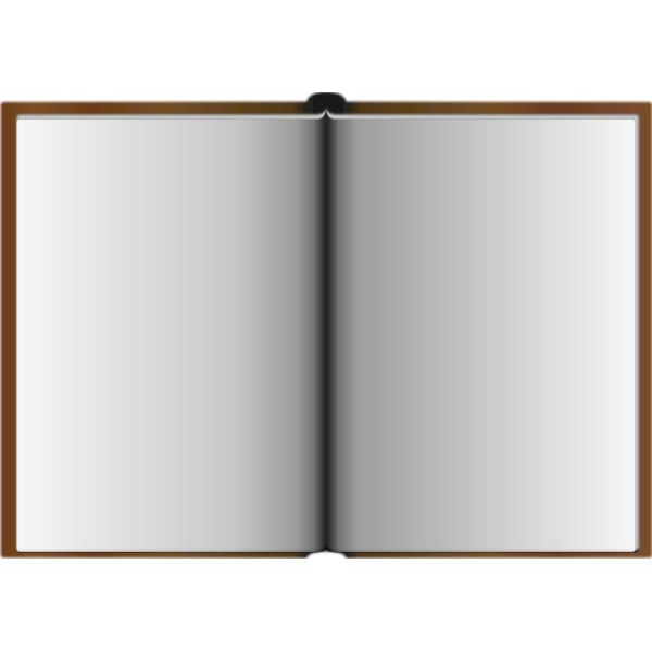 Vector graphics of opened brown book