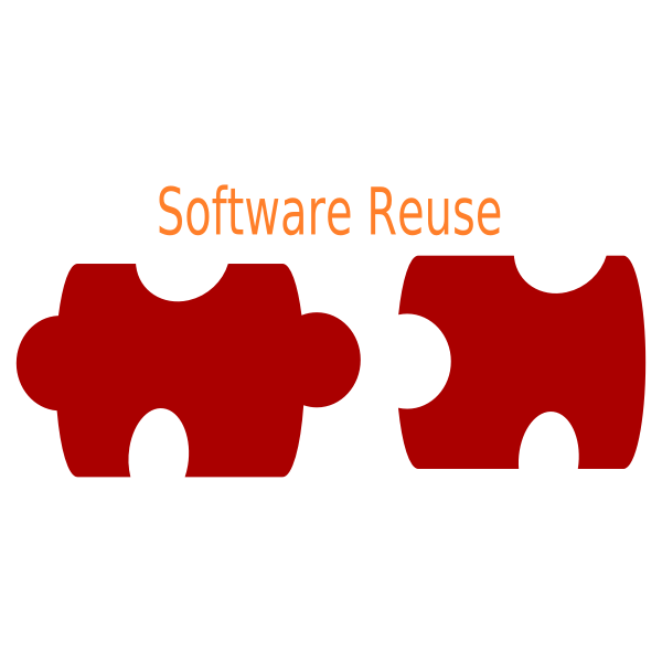 Software reuse logo vector image