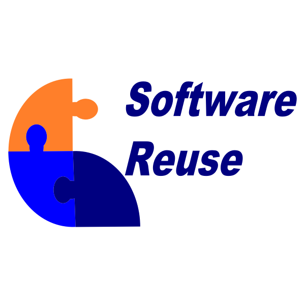 Software reuse sign vector illustration