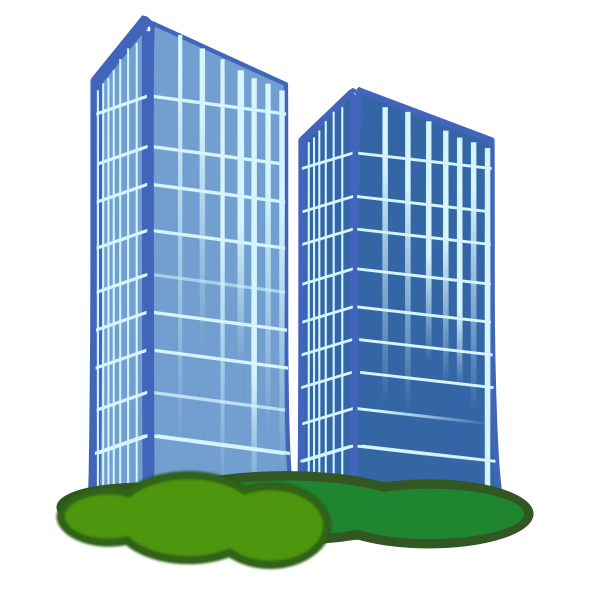 Housing estate vector drawing