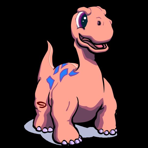 Big cartoon dinosaur