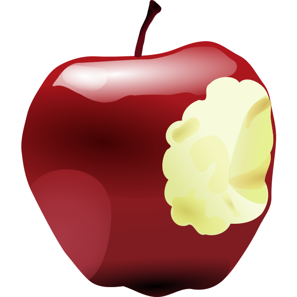 Apple with bite vector image