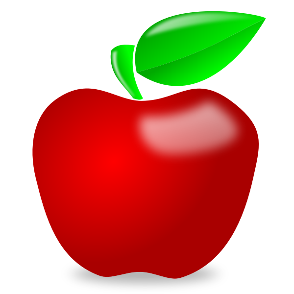 Shiny spot red apple vector image