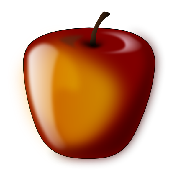Vector illustration of a glossy apple