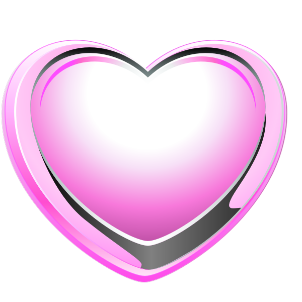 Vector image of pink and grey heart shape