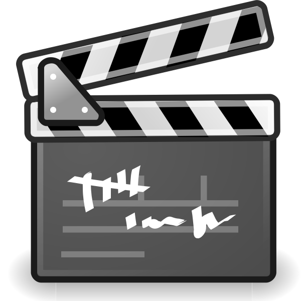 Filming scene clapboard vector drawing