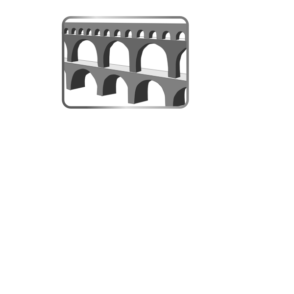 Aquaduct grayscale image