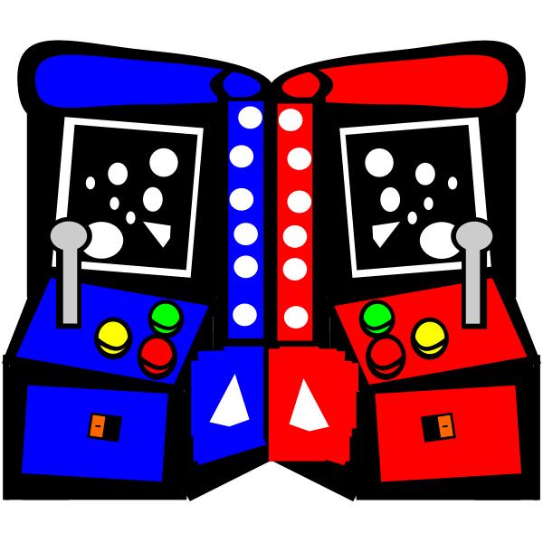Arcade machines comic vector drawing