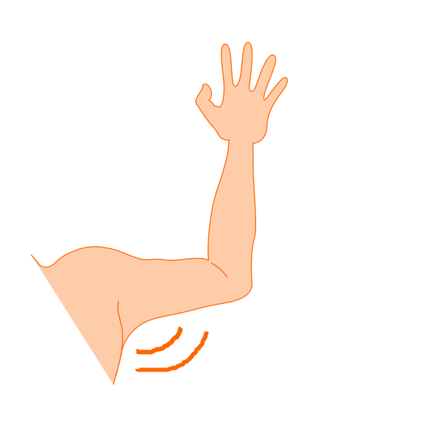 Vector graphics of arm pit