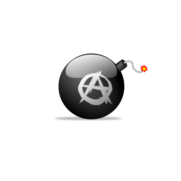 Vector drawing of anarchist bomb
