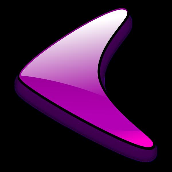 Left facing purple arrow vector graphics