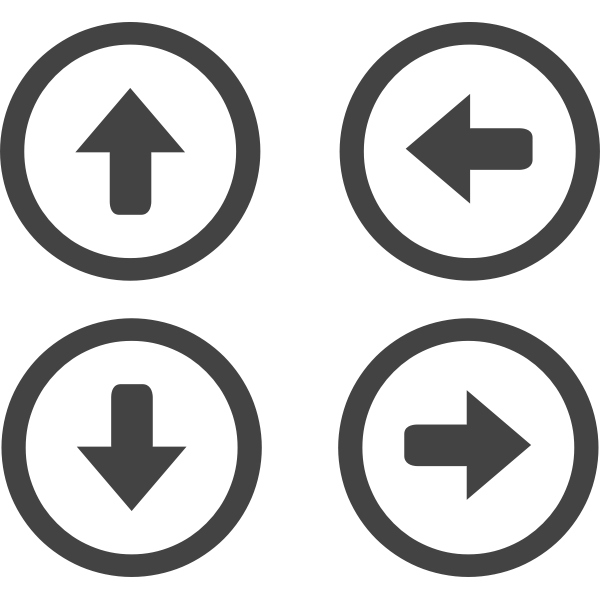 Vector illustration of selection of arrows in circle order