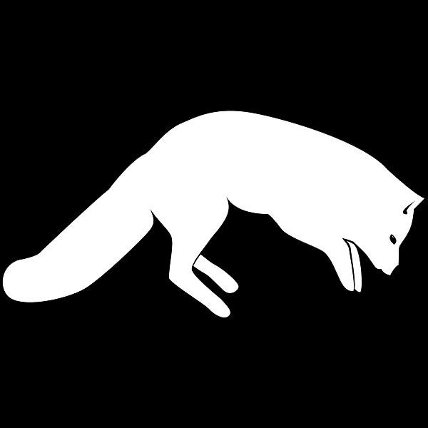 Leaping Arctic Fox