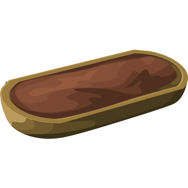 Vector clip art of brown ground container