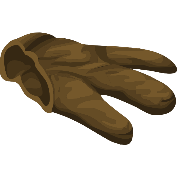 Part of a glove
