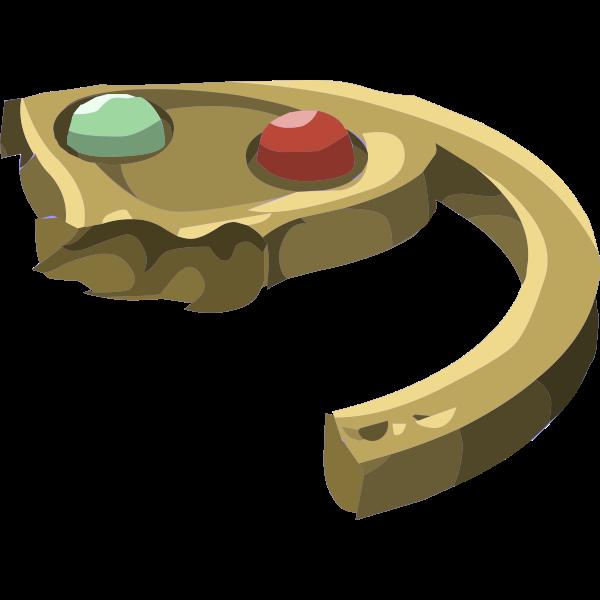 Half of magical pendant piece