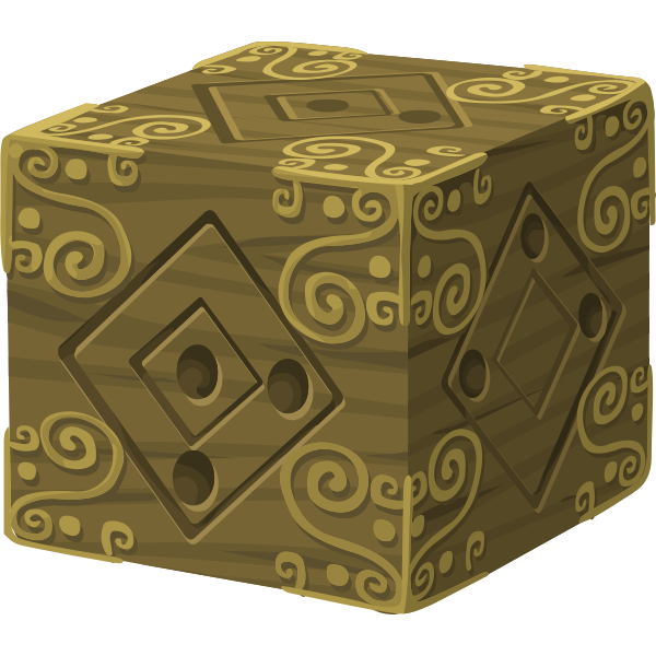Artifact mysterious cube clip art