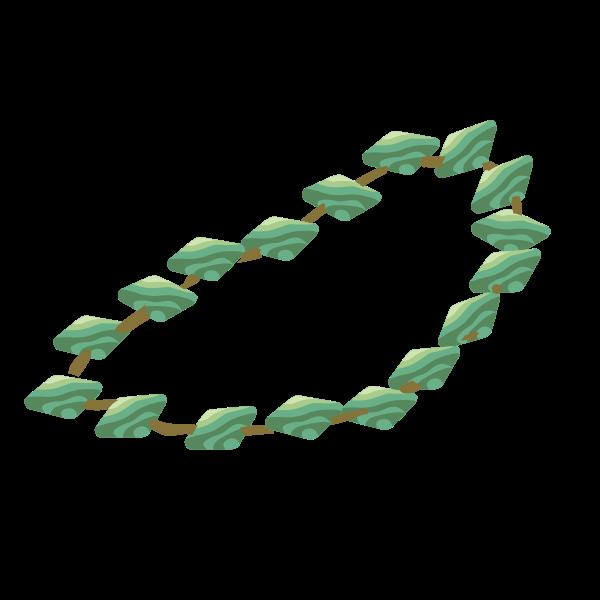 Artifact necklace made of amazonite