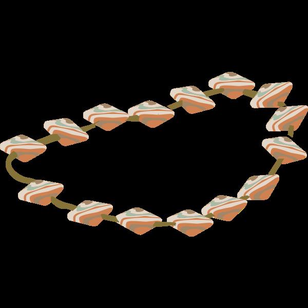 Artifact necklace rhyolite vector image