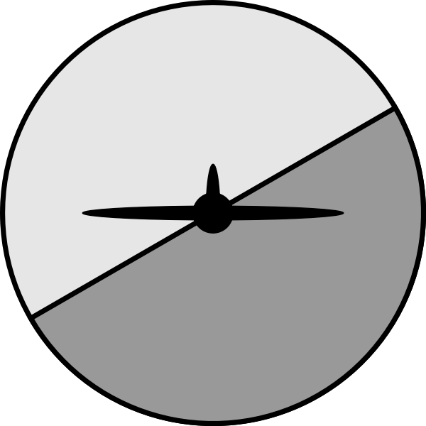 Artificial horizon and airplane silhouette