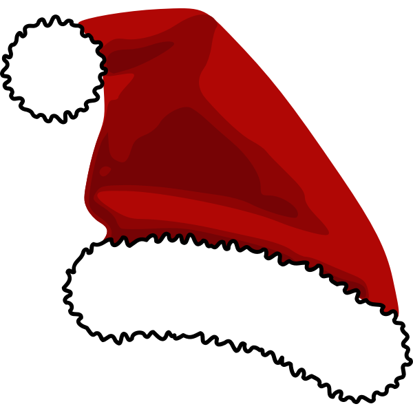 Santa Claus Cap Vector