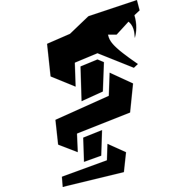 Vector image of rod of Asclepius pictogram