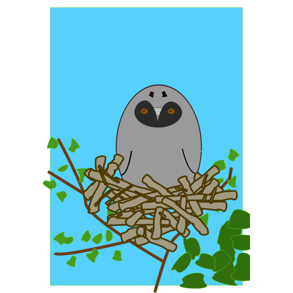 Vector clip art of Scops owl