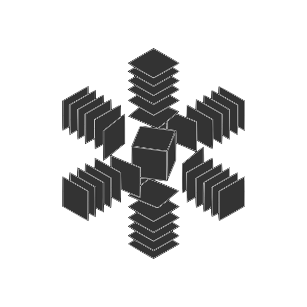 abstract cube in space
