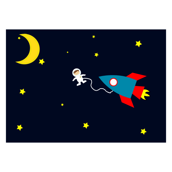 Astronaut on space walk cartoon vector image