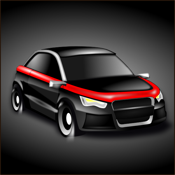 Sport car vector drawing
