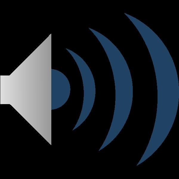 Sound emitter icon vector clip art