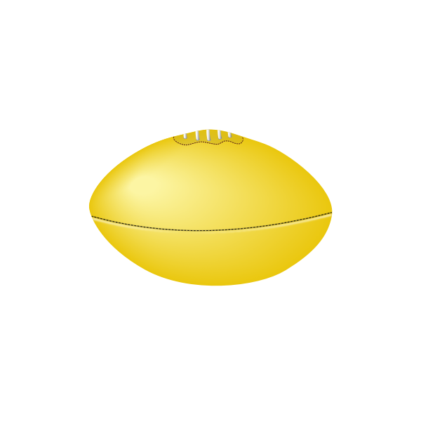 Aussie rules football ball vector image