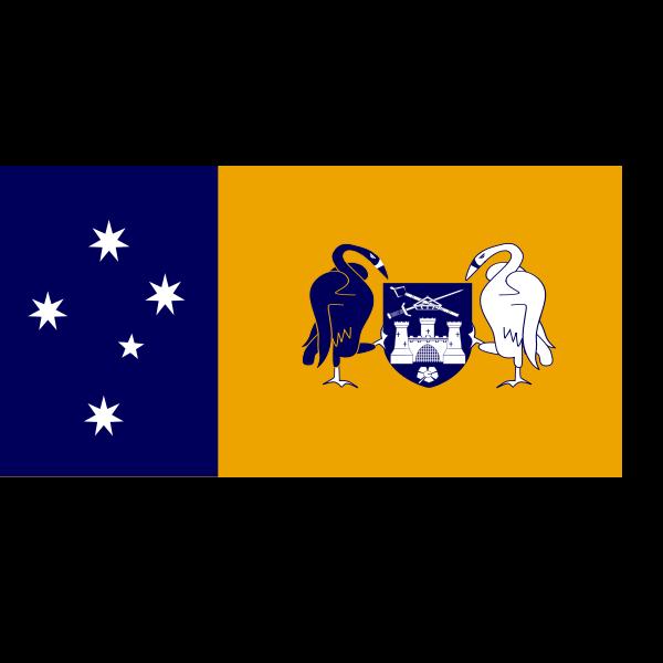 Flag of the Australian Capital Territory vector illustration