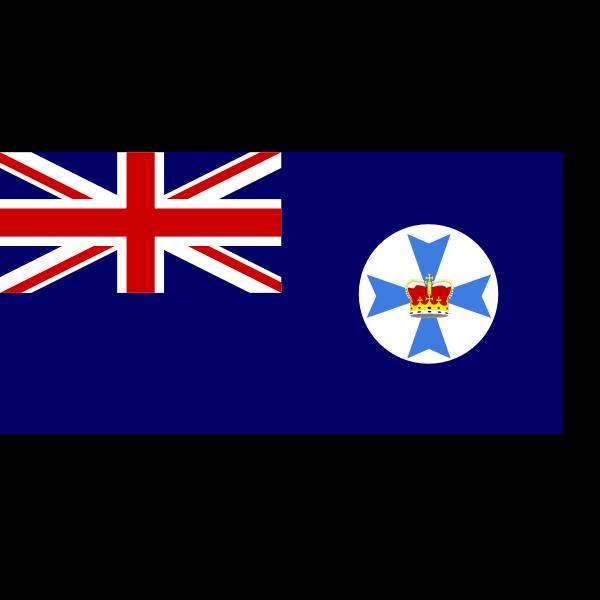 Vector clip art of flag of Queensland