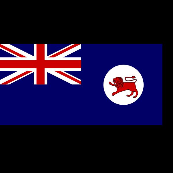 Flag of Tasmania vector illustration