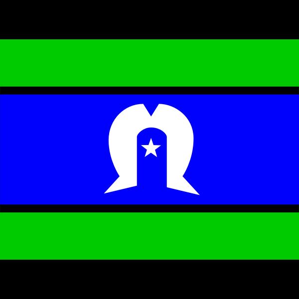 Torres Strait Islander flag vector drawing