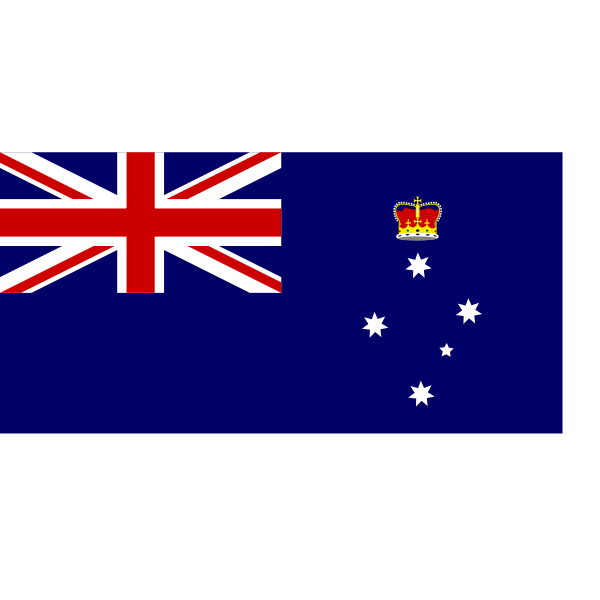 Vector graphics of flag of Victoria