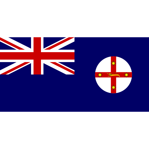 Vector drawing of flag of New South Wales