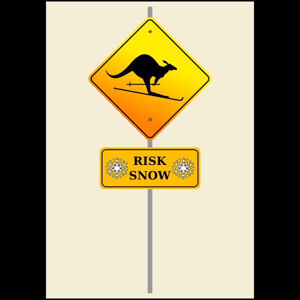 Snow risk sign