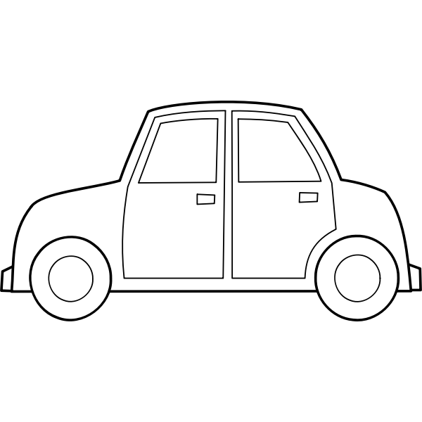 Automobile vector outline image