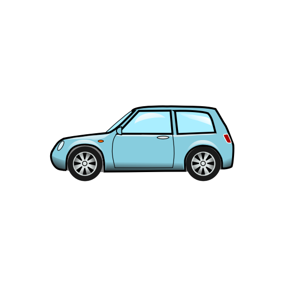 Vector graphics of blue car
