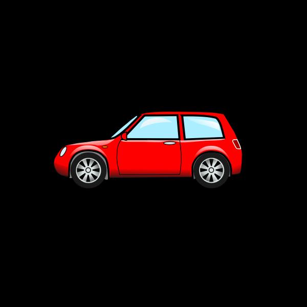 A hatchback car vector illustration