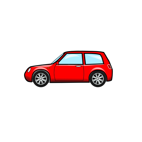 A hatchback car vector illustration