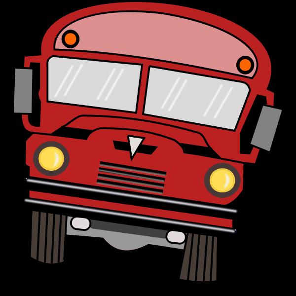Vector drawing of a cartoon bus
